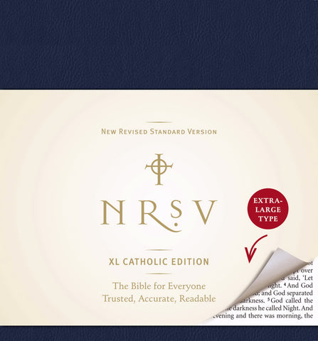 NRSV XLarge Catholic Edition Bible, Navy