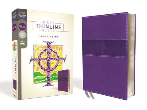 NRSV Thinline Bible, Purple, Large Print