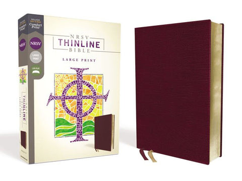 NRSV Thinline Bible, Burgundy Bonded Leather, Large Print