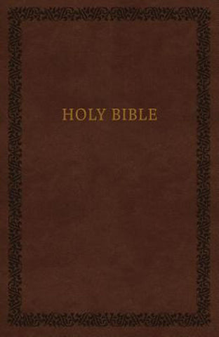 KJV Holy Bible, Leathersoft, Brown, Comfort Print