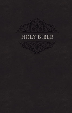 KJV Holy Bible, Leathersoft, Black, Comfort Print
