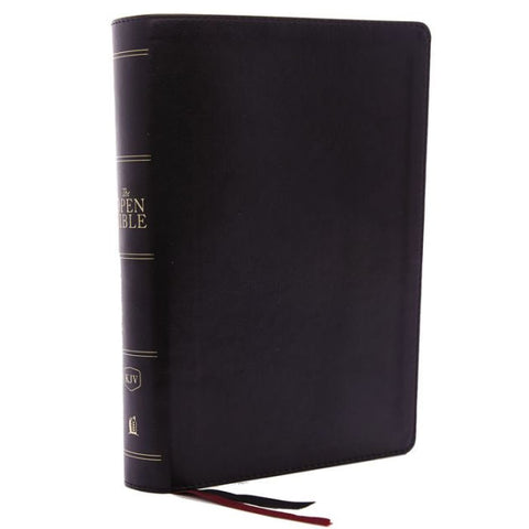 KJV Open Bible, Black, Indexed, Red Letter, Comfort Print
