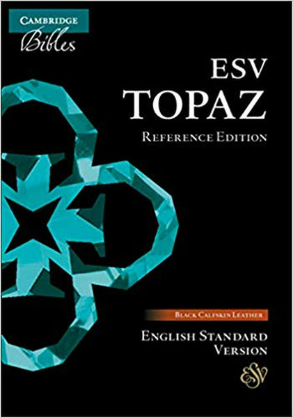 ESV Topaz Reference Bible, Black Calfskin Leather