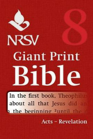 NRSV Giant Print Bible: Acts-Revelation