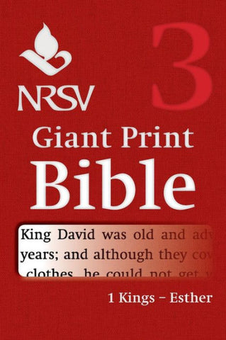 NRSV Giant Print Bible: 1 Kings-Esther