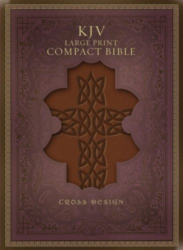KJV Large Print Compact Bible, Black, Indexed