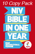 NIV Alpha Bible In One Year Paperback 10 Copy Pack - N/A - Re-vived.com