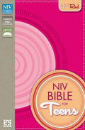 NIV Bible For Teens Hot Pink/Pink Italian Duo-Tone Flexible Cloth - N/A - Re-vived.com