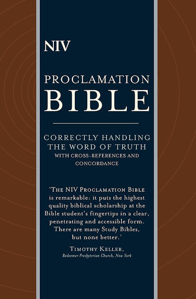 NIV Compact Proclamation Bible Leather