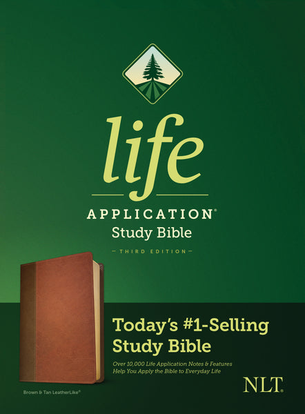 NLT Life Application Study Bible, Third Edition (Imitation Leather, Brown/Mahogany)