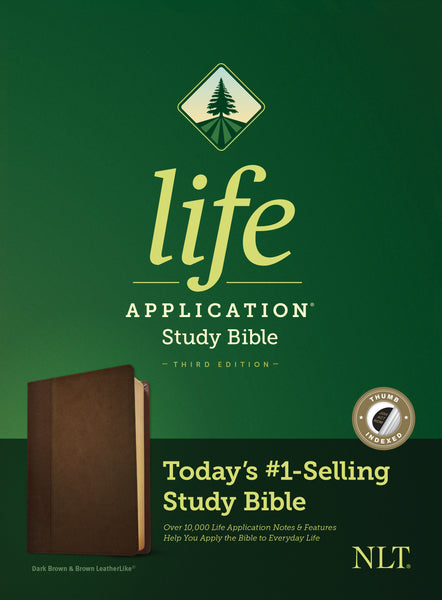 NLT Life Application Study Bible, Third Edition (Imitation Leather, Dark Brown/Brown, Indexed)