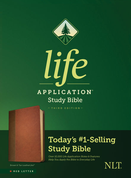 NLT Life Application Study Bible, Third Edition (Imitation Leather, Red Letter, Brown/Mahogany)