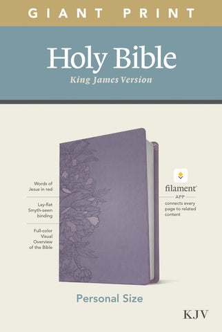 KJV Personal Size Giant Print Bible, Filament Ed., Lavender Imitation Leather, Large Print