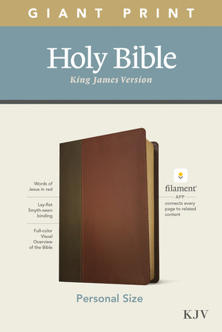 KJV Personal Size Giant Print Bible, Filament Edition, Brown Imitation Leather, Large Print