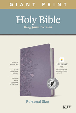 KJV Personal Size Giant Print Bible, Filament Ed., Lavender Imitation Leather - Large Print