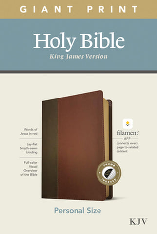 KJV Personal Size Giant Print Bible, Filament Edition, Brown Imitation Leather – Large Print