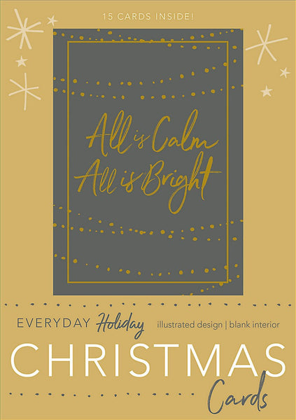 All Is Calm, All Is Bright Boxed Christmas Cards