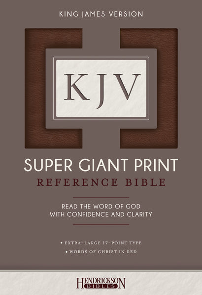 KJV Super Giant Print Reference Bible, Flexisoft, Brown