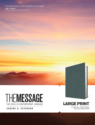The Message Large Print Hardback, Dark Grey