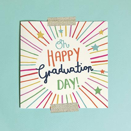 Happy Graduation Day Greeting Card & Envelope