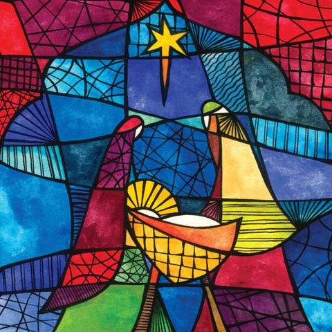 Christmas Card Box: Stained Glass (10 Pack)