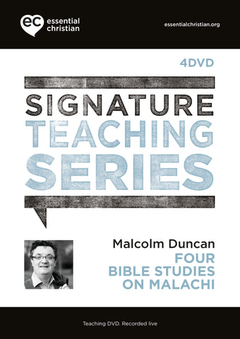 Malachi: Signature Teaching Series 4 Talk DVD