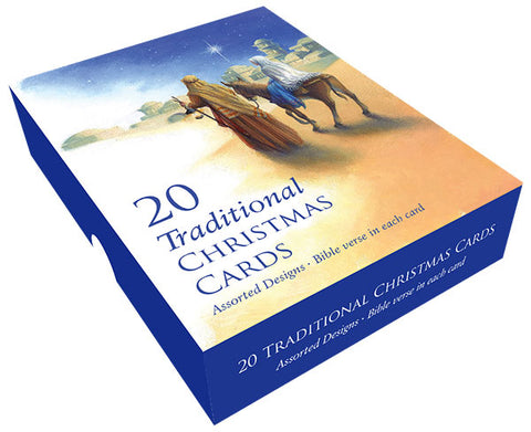Traditional Nativity Christmas Card Box (20 Pack)