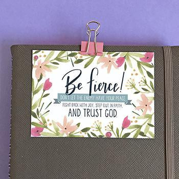 Be Fierce - Mini Card