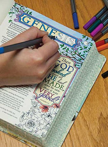 NLT Inspire Colouring Bible - Various - Re-vived.com - 2