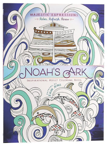 Adult Colouring Book: Majestic Expressions: Noah's Ark - Erin Jons - Re-vived.com