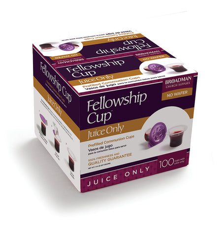 Fellowship Cup Juice Only Box - Box Of 100