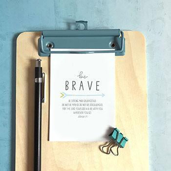 Be Brave  (Arrow) - Mini Card