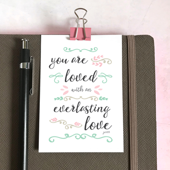 You Are Loved - Mini Card
