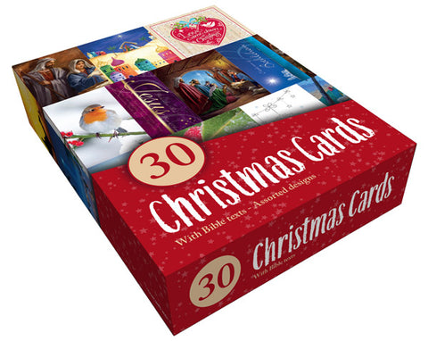 Value Boxed Assortment Christmas Cards (30 Pack)