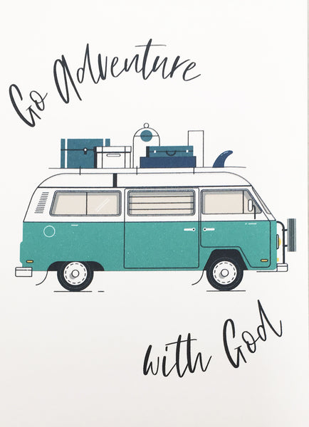 Go Adventure (Teal)  - Mini Card