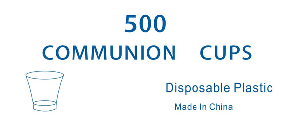 Disposable Communion Cups - Pack of 500