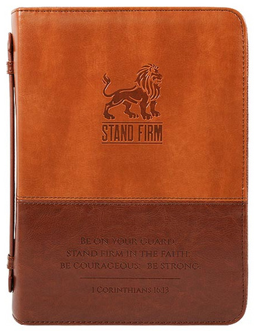 Stand Firm Bible Cover Imitation Leather, Large