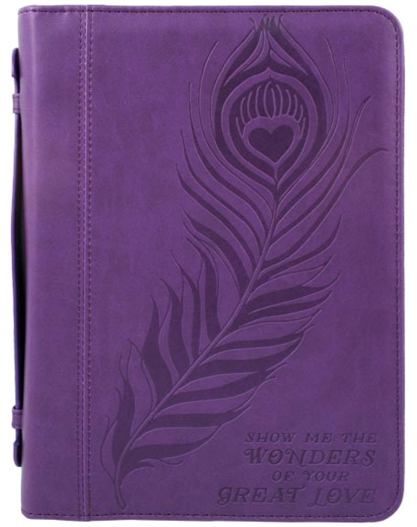 Great Love Bible Cover Imitation Leather, Large