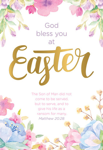 Compassion Charity Easter Cards: God Bless You At Easter (5 Pack)