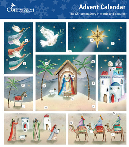 Compassion Charity Advent Calendar: Christmas Scene