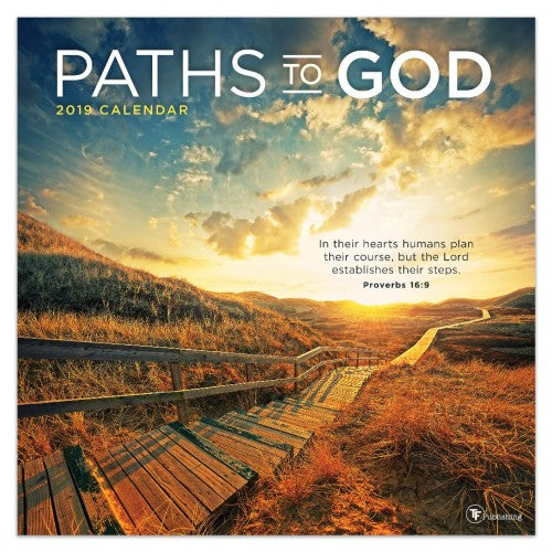 2019 Paths To God Wall Calendar