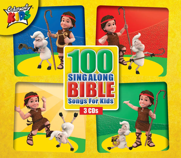 100 Singalong Bible Songs For Kids CD - Cedarmont Kids - Re-vived.com