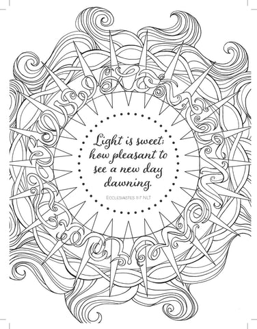 Rise and Shine Adult Colouring Book