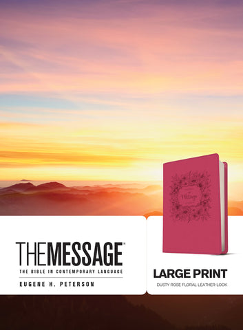 The Message Large Print Imitation Leather - Eugene H. Peterson - Re-vived.com - 1