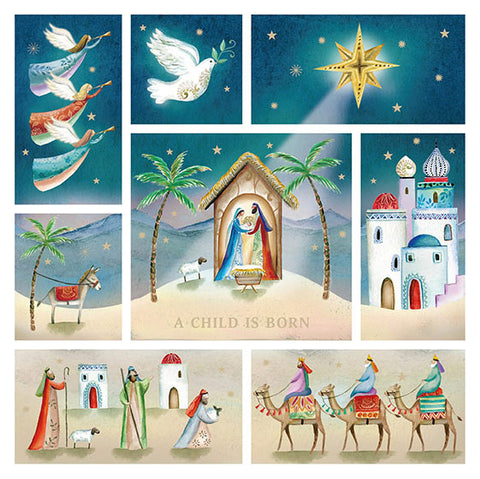Compassion Charity Christmas Cards: A Child Is Born (10 Pack)