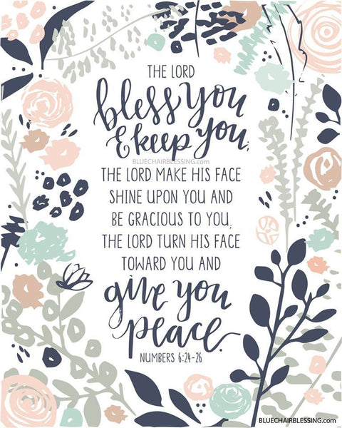 The Lord bless you - A3 Print