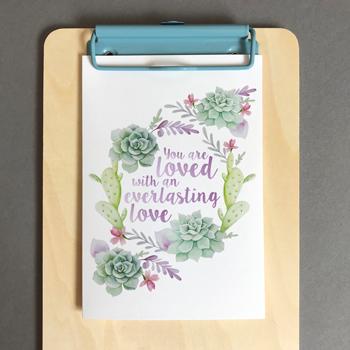 You Are Loved - A6 Greeting Card