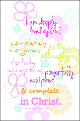 I am deeply loved (flowers) - Mini Card