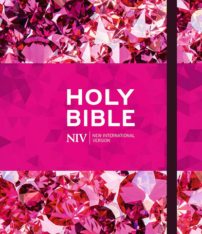 NIV Ruby Journalling Bible: Pink Metallic Hardback