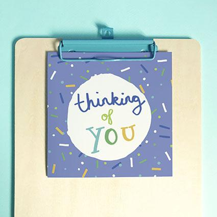 Thinking of You Greeting Card & Envelope